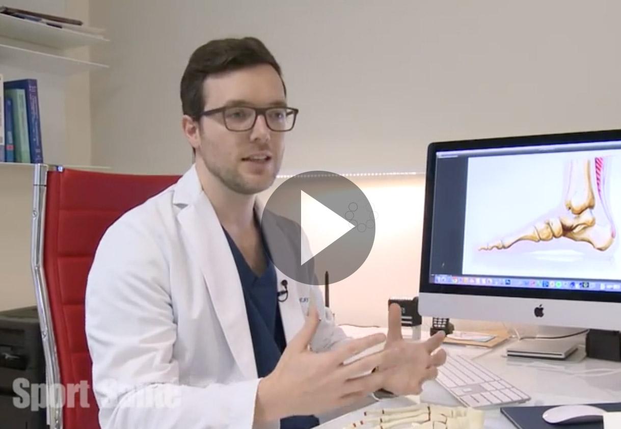 dr Adrien Ray - tendon d'achille - Leman Bleu